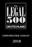 Legal500 2018 Deutsch recommended lawyer